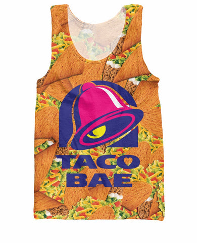 25898228f154f Taco Bae Tank Top Taco Bell fast food royalty Summer Style