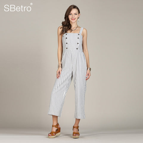 ac5b5888fd4 Roompers Striped Strap Jumpsuit Sporty