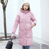Jacket Women Mid-Long Warm Hooded