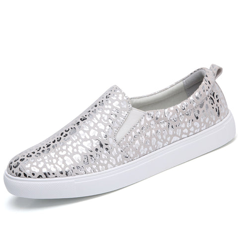 Shoes Loafers Fashion ballet flats sliver white black
