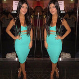 Sleeveless Bodycon Midi Pencil Bandage Ripped Dress