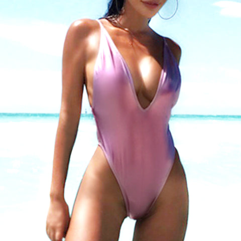 Swimsuit Bodysuit Bikini Waterproof One Piece PU22