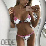 Bikini swimsuit  female bathing suit push