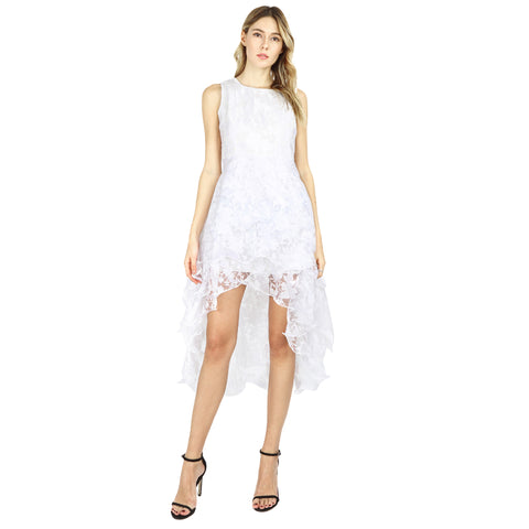 Dress White Organza  Party