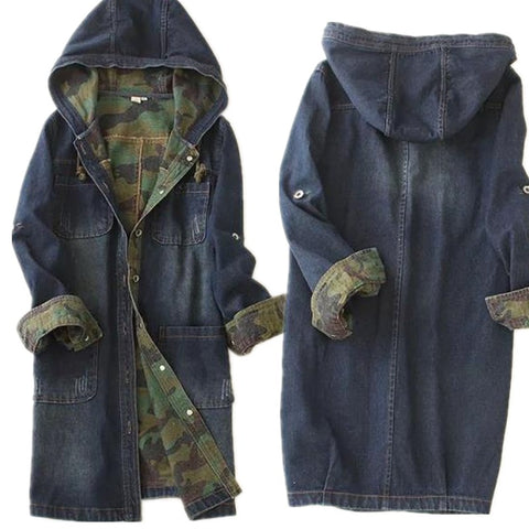 jacket camouflage high quality women denim