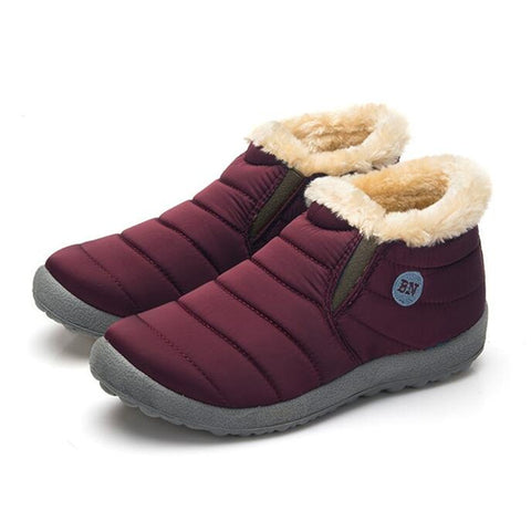 Shoes Snow Boots Warm Fur Inside Antiskid Bottom Keep Warm
