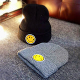 Smile Pattern Knitted Beanies Cap Hats SE