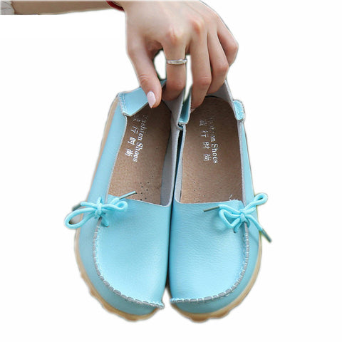 Shoes Moccasins Casual Female Ballet Footwear