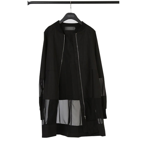 jacket coat See Through black bomb