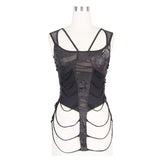 Tank Tops Gothic Leather