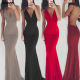 Strapless Backless Maxi Dress RI
