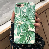 Summer Tropical Banana Leaf Plants Leaves Case Cover For iPhone 6 6s 7 8