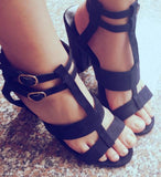 Square Heels Ankle Strap Shoes