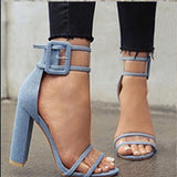 Shoes Women Pumps Sexy Clear Transparent Strap Buckle Summer