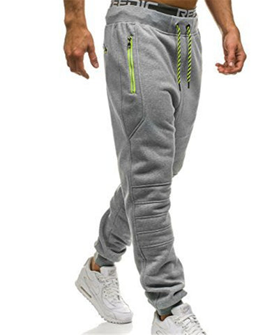 Zipper Pockets Hombre Casual Sweatpants Men RI
