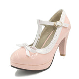 shoes Woman strap bowknot pumps lady platform