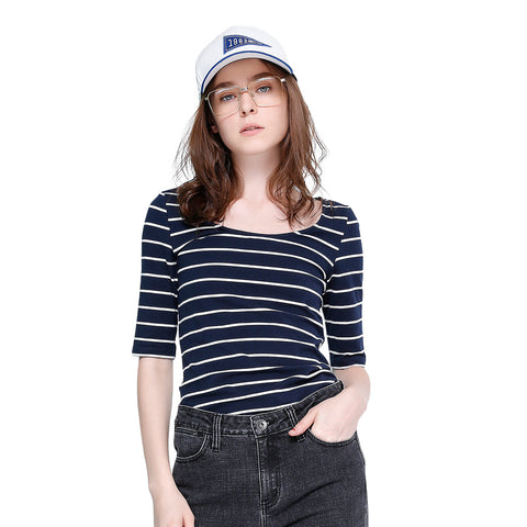 Toyouth Slim Striped T-Shirts