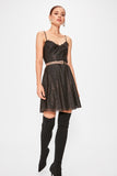 Black Tulle Detailed A Line Mini Dress SE