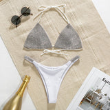 Triangle High Cut Brazilian Diamond Bikini RI