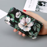 Case For iPhone 6 Flower Cherry Cases Candy Colors Leaves Print Cover Coque For iPhone 6 6s 7 8 Plus