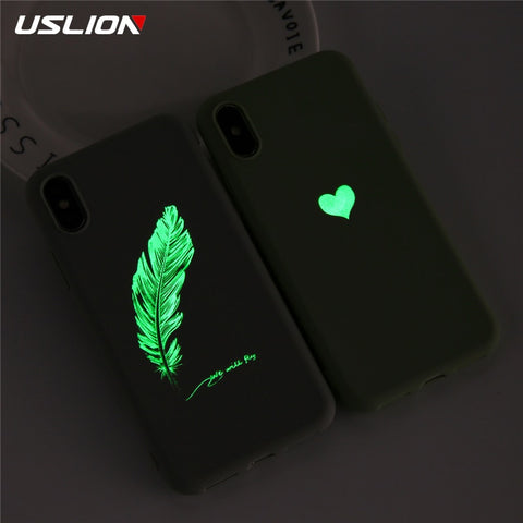 Soft TPU Luminous Glow Ultrathin Love Heart Phone Case SE
