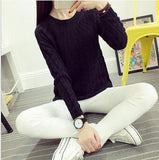 Pullovers Casual Long Sleeve Twist Knitted Christmas Sweter