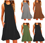 Dress Women Mini Boho Party&beach