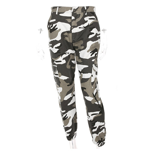 Women Fashion Camouflage Jogger Pants