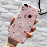 Floral Protect Soft Full Cover For iPhone 7 8 Plus X Phone Cases