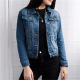 Jacket Vintage Long Sleeve Slim Female