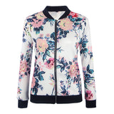 jacket Spring Autumn Flower printed Fashion