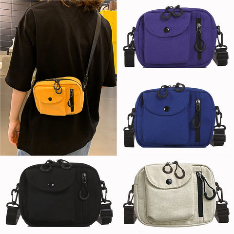 Canvas Joker shoulder bag color square bag SE