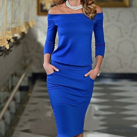 dress Women New Style Long Sleeve wear Party