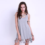 dress Women Summer Style Beach Casual Sleeveless Vestidos