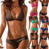 Two Pieces Padded Halter Micro Swimsuit Bikini Set SE