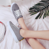 grid flat canvas Checkered breathable shoes