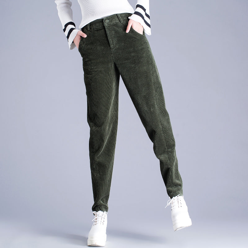 for whole family 100% authenticated get new Pants Spring Loose Trousers Corduroy Pants