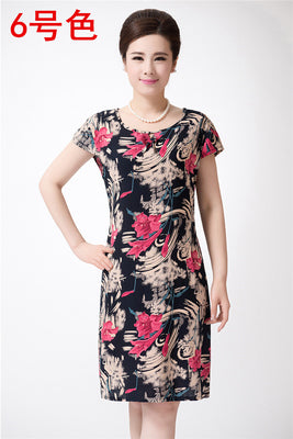 Women Dress Summer Style Plus Size Vintage Printed Flower