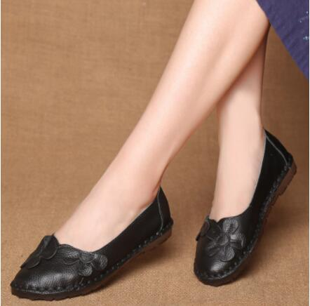 Shoes Vintage Genuine Leather Women Flats