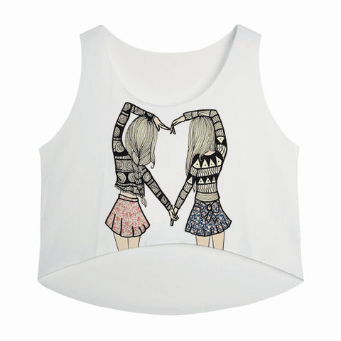 Girls Love Heart Tank Top