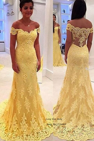 7321d5527b1 Lace Formal Evening Gowns off Shoulder Dress