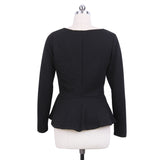 New Women Spring Autumn White Black Coats Cotton Casual Feminino Jackets