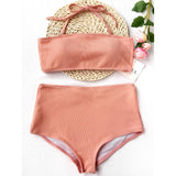 Bikini Bandeau Collar Swimsuit
