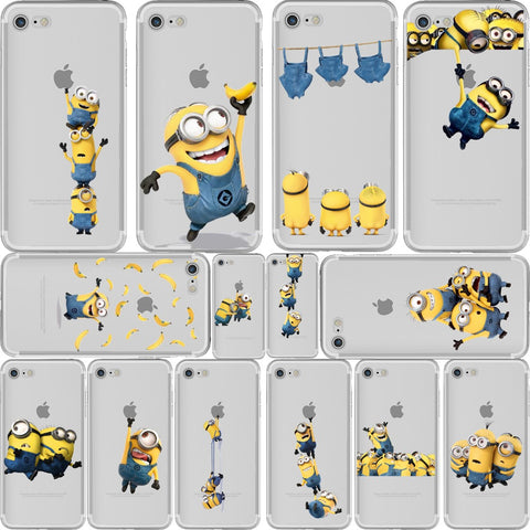 0cef9ba5bf ciciber Phone Cases Despicable Me 3 Yellow Minions Design Soft Silicone  Clear TPU Case Cover for