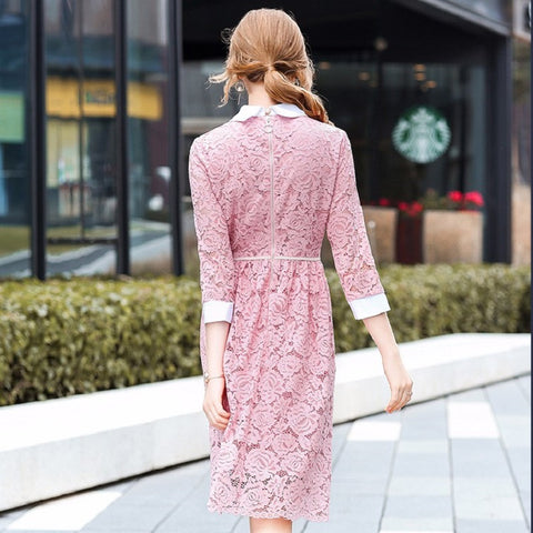 4217c0254cb girl dresses 2018 new High quality spring summer elegance Party Dress  Fashion Trend Women Clothing Cute