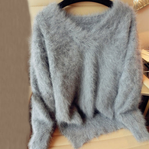 coat pure mink v neck Fur sweater SE