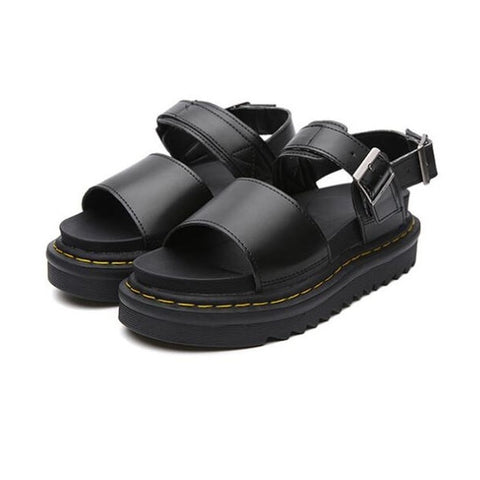 Thick-soled Open Toe Buckle Roman Sandals RI