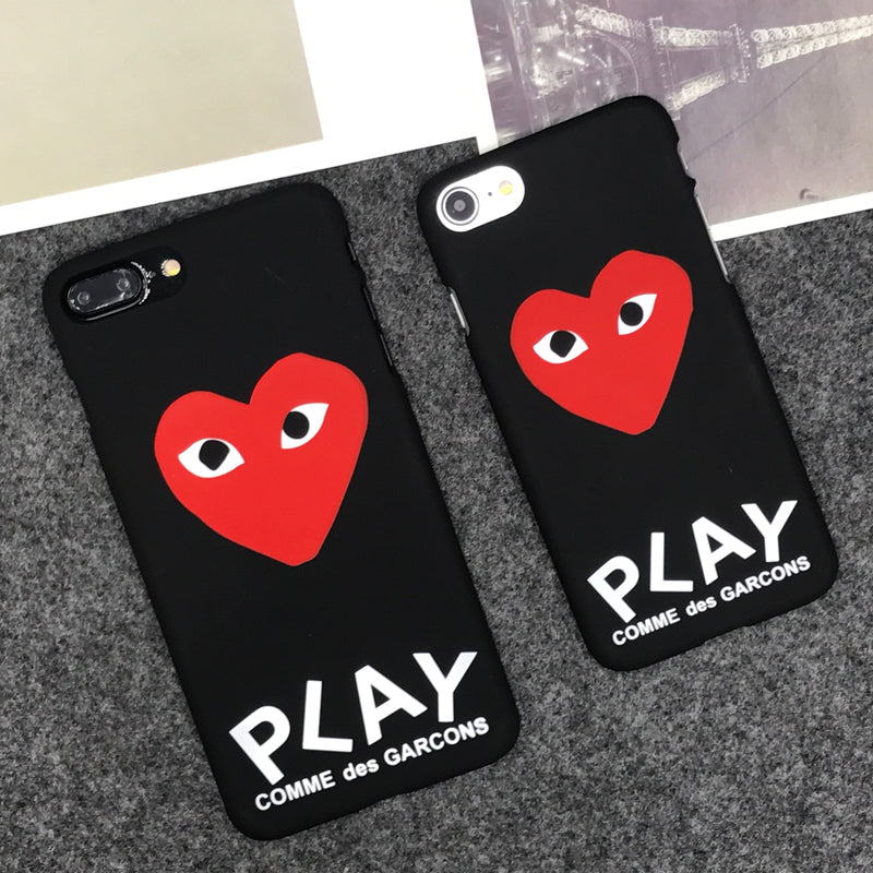 new concept 46899 5818d luxury brand CDG Play Comme des Garcons Hard Matte Protect Cases For iphone  X 5S SE 6s 6 7 Plus 8 8plus Phone Cover coque case