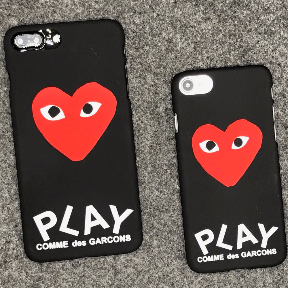 new concept 5a4fe b5bf4 luxury brand CDG Play Comme des Garcons Hard Matte Protect Cases For iphone  X 5S SE 6s 6 7 Plus 8 8plus Phone Cover coque case