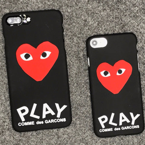 pretty nice ad9ba b209e luxury brand CDG Play Comme des Garcons Hard Matte Protect Cases For ...